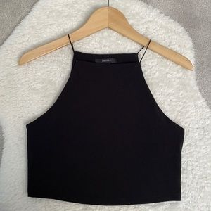 NWOT FOREVER 21 Black Contemporary Tank Top - Size M